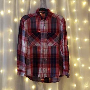 express red plaid shirt